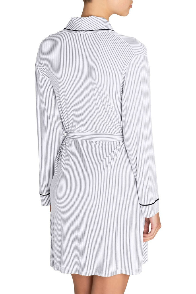 Eberjey Nordic Stripes The Tuxedo Robe - Lounge Beauties