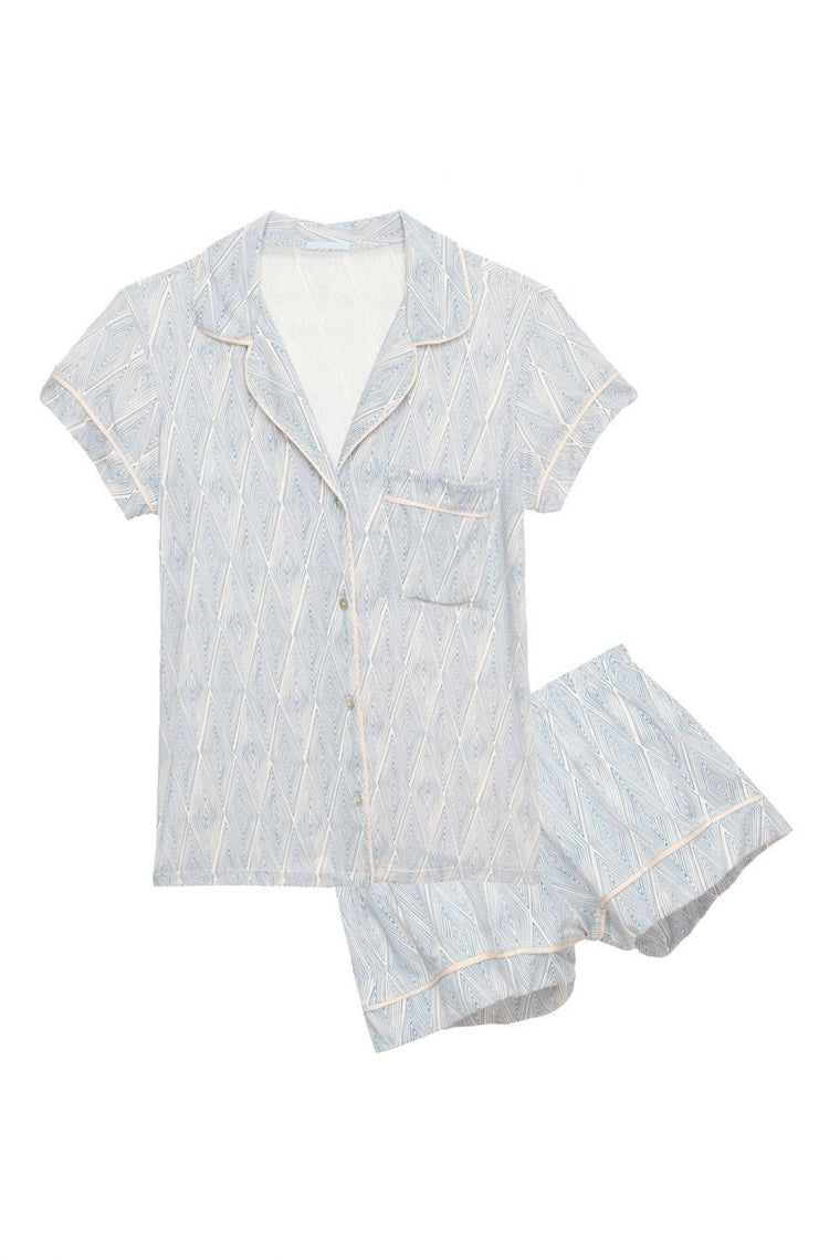 Eberjey Diamond Maze Short PJ Set