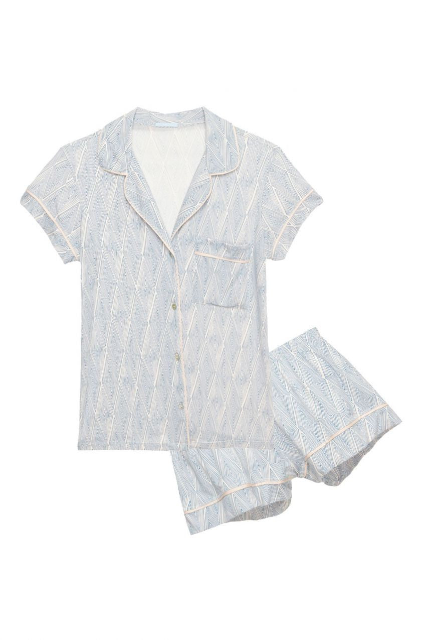Eberjey Diamond Maze Short PJ Set - Lounge Beauties