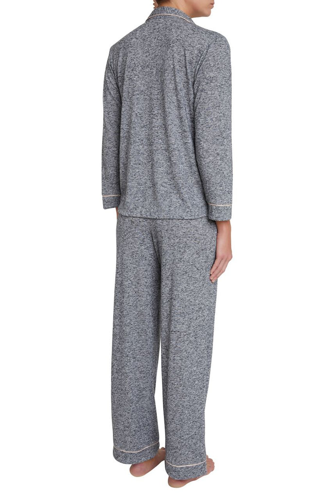 Eberjey Bobby Long PJ Set in Heathered Grey - Lounge Beauties