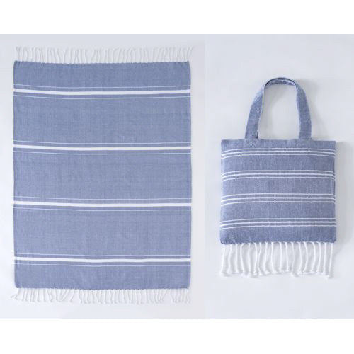 Shiraleah Blue Ali Beach Blanket in a Bag - Lounge Beauties