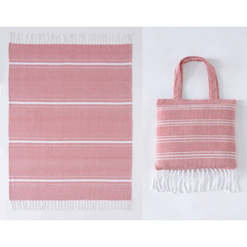 Shiraleah Red Ali Beach Blanket in a Bag - Lounge Beauties