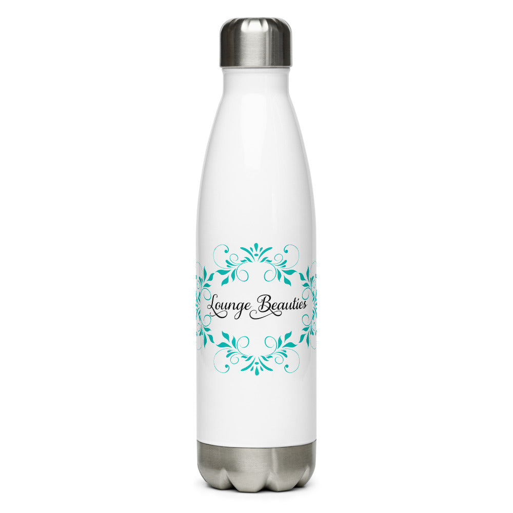 "Stainless Steel Water Bottle ""Lounge Beauties"" Logo"