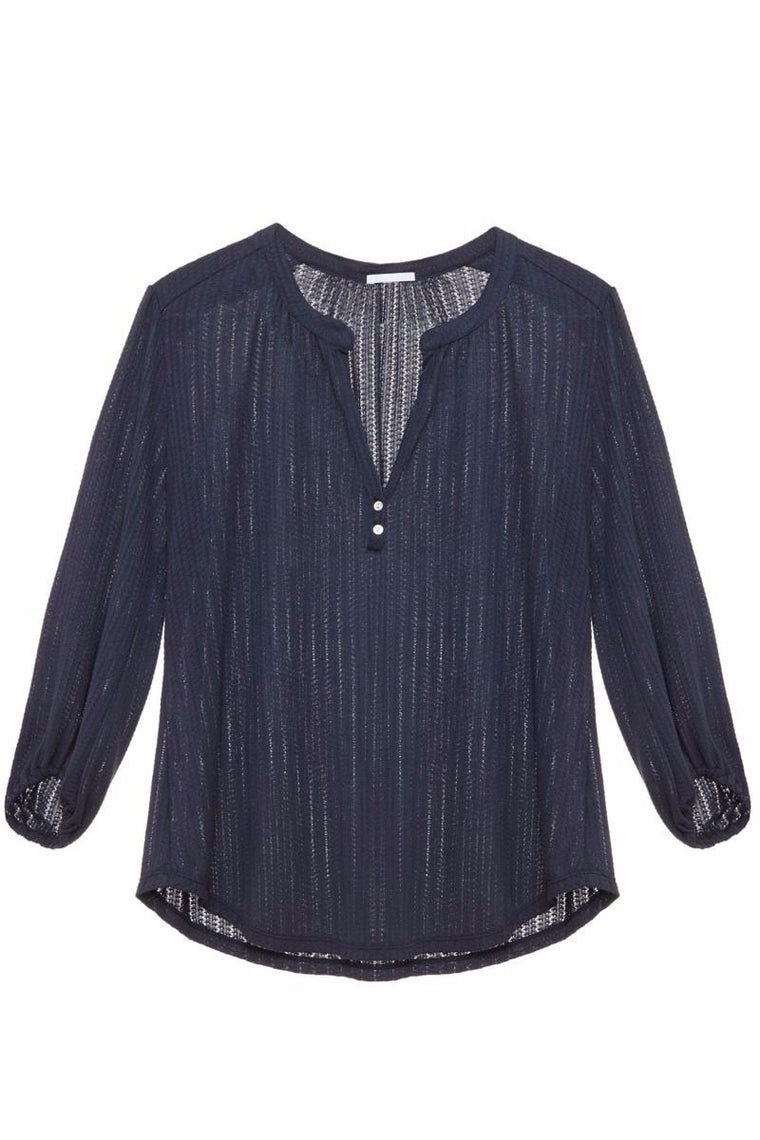 Eberjey Baxter Peasant Top in Blue Nights