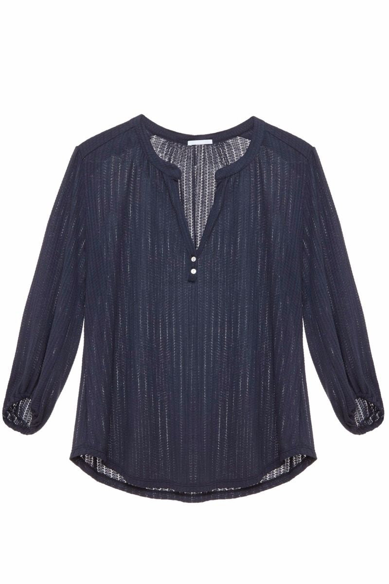 Eberjey Baxter Peasant Top in Blue Nights - Lounge Beauties