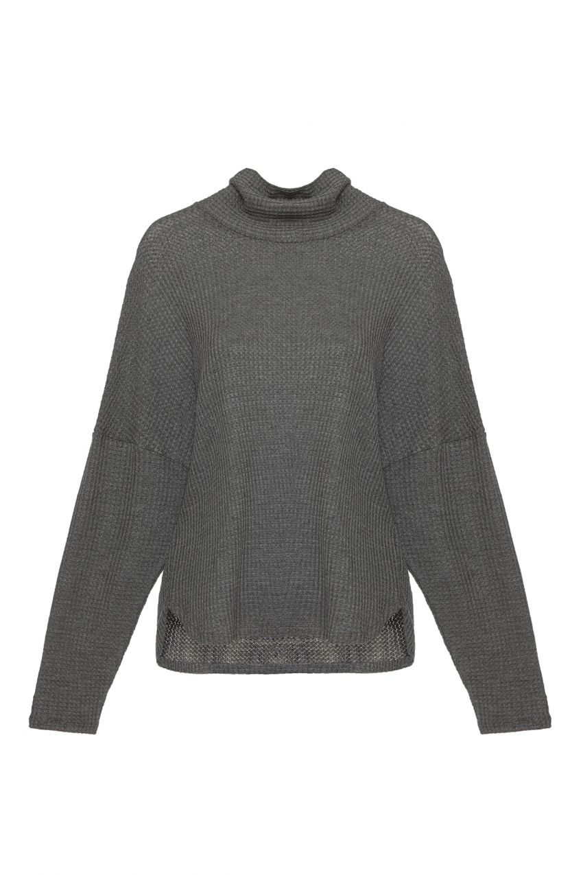 Eberjey Ula Cowl Neck Top in Dark Heather Grey - Lounge Beauties