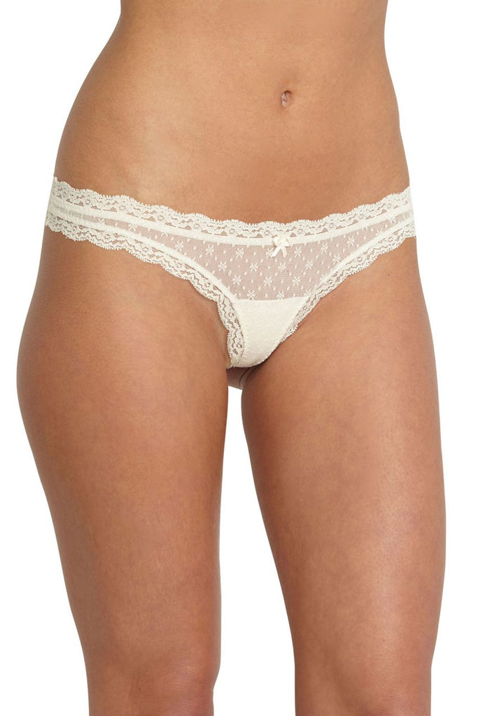 Eberjey Delirious Lace Low Rise Thong Trio - Lounge Beauties