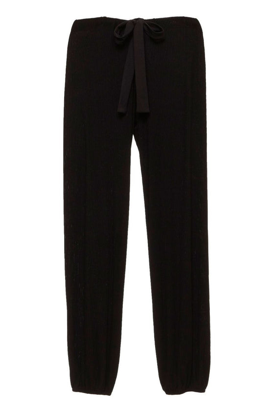 Eberjey Elon Cropped Pant in Black - Lounge Beauties