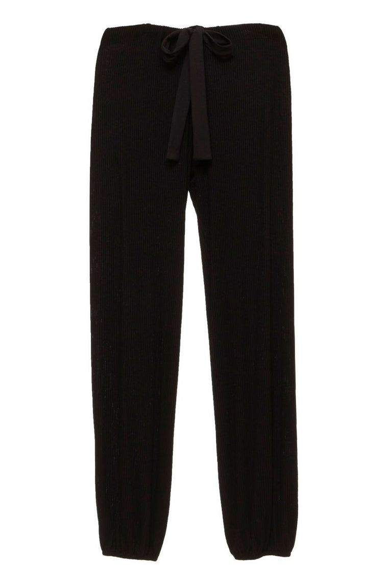 Eberjey Elon Cropped Pant in Black
