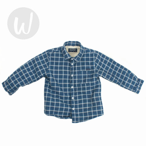 Mayoral Fleece Lined Button-Down Shirt