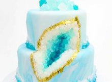 How to Make a Geode Wedding Cake!