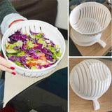New! Salad Cutter Bowl. EasyFruit Vegetable Washer And Cutter Quick Salad Maker Chopper!