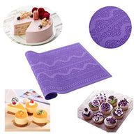 Silicone Mat Fondant Cake Decorating, Lace Mold Flower Pattern