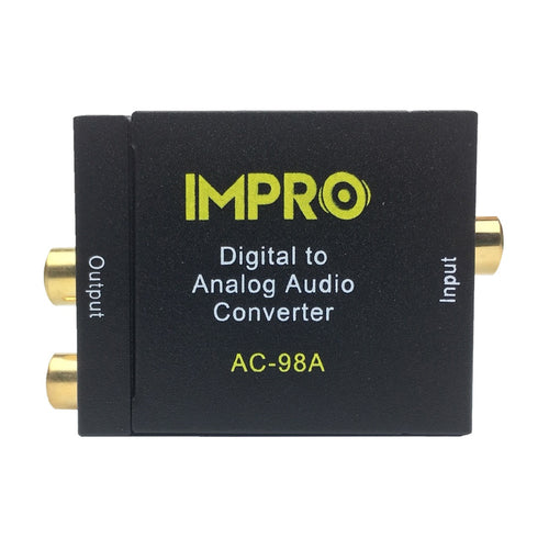 ImPro AC-98A Optical SPDIF/Coaxial Digital to RCA L/R Analog Audio Converter