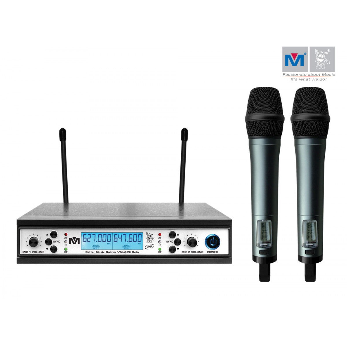 Better Music Builder VM-62U Beta Dual Channel Wireless Microphones