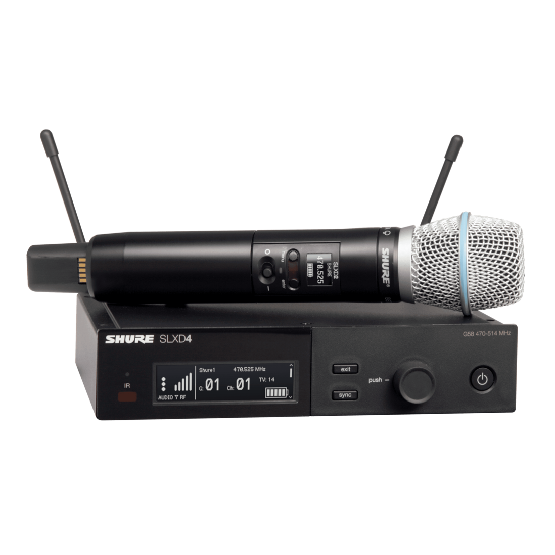Shure SLXD24/Beta87A Single Handheld Microphone System