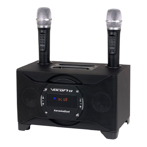 VocoPro KaraokeDual 100W Tablet/Smart-TV Karaoke System with Dual Microphones
