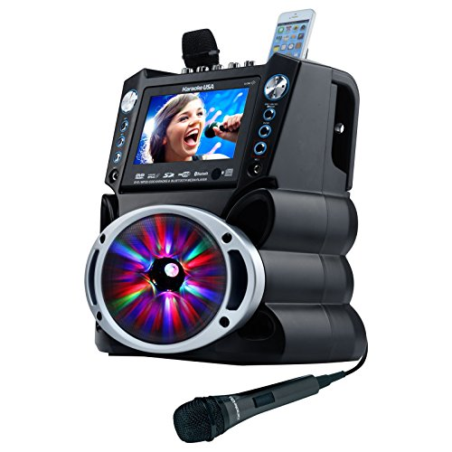 "KaraokeUSA GF-842 DVD/CDG/MP3G System with 7"" TFT Color Screen, Lights"