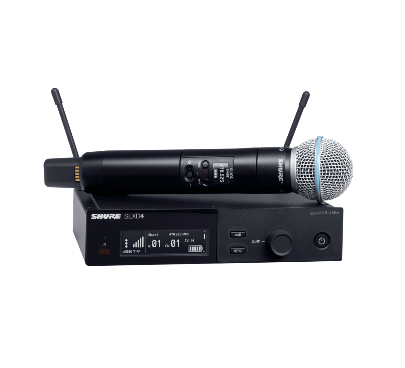 Shure SLXD24/Beta58 Single Handheld Wireless Microphone System