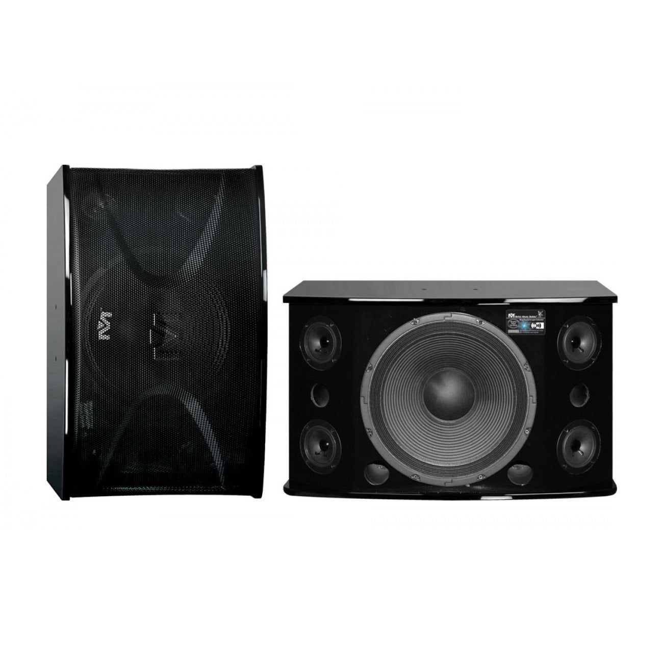 Better Music Builder CS-812 G3 Professional 600 Watts Karaoke Vocal Speakers (Black Gloss Finish)