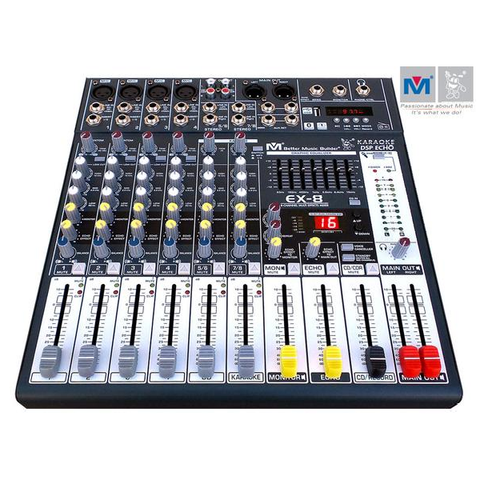 Better Music Builder EX-16 16-Channel Professional DJ / KJ Audio Mixer