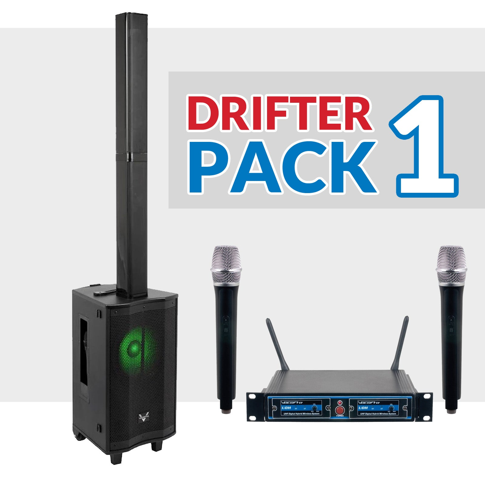 Drifter Package 01: VocoPro Drifter + UDH-Dual-H Microphones