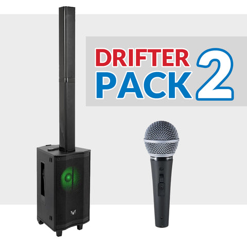 House Party Package #01: ImPro PMA-1200 + BetterMusicBuilder CS-612 G3 + Stands + Shure BLX Series Microphone