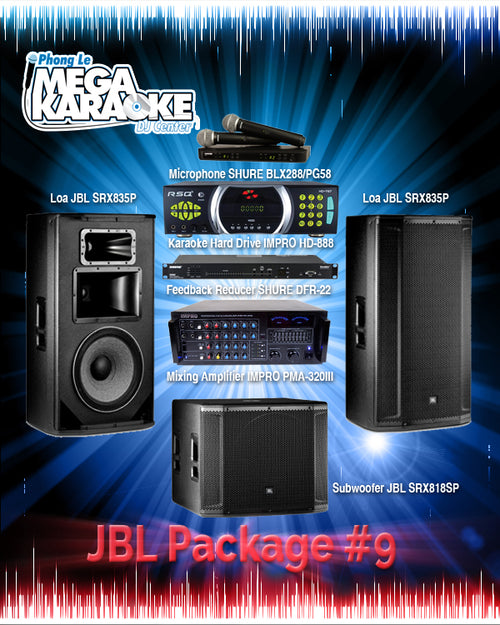 JBL Package #9: Combination Of HD-787 (2TB),  BLX288/PG58, DFR-22, PMA-320III, SRX835P (PAIR), SRX818SP