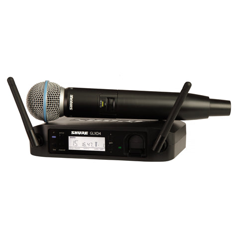 Shure GLXD24/SM58 Rechargeable Handheld Wireless Microphone System