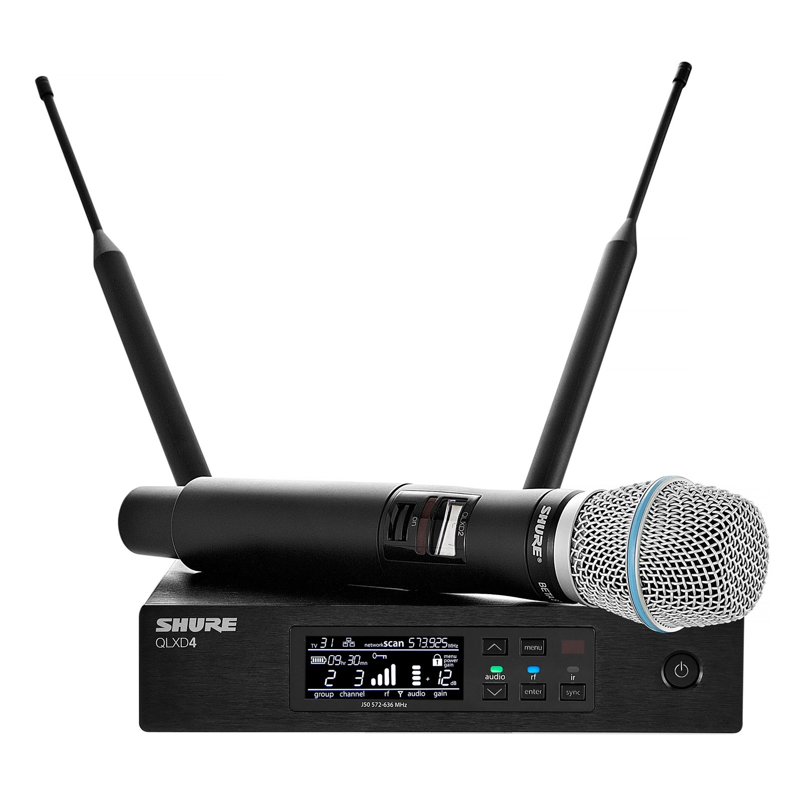 Shure QLXD24/Beta87A Wireless Microphone System