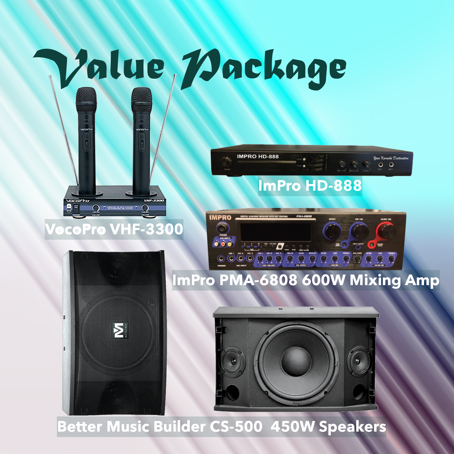 Value Package #1: Combination Of HD-888 (3TB), PMA-6808, CS-500, VHF-3300