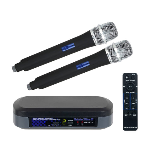 VocoPro VHF-3300 Dual Wireless Rechargeable Mic System