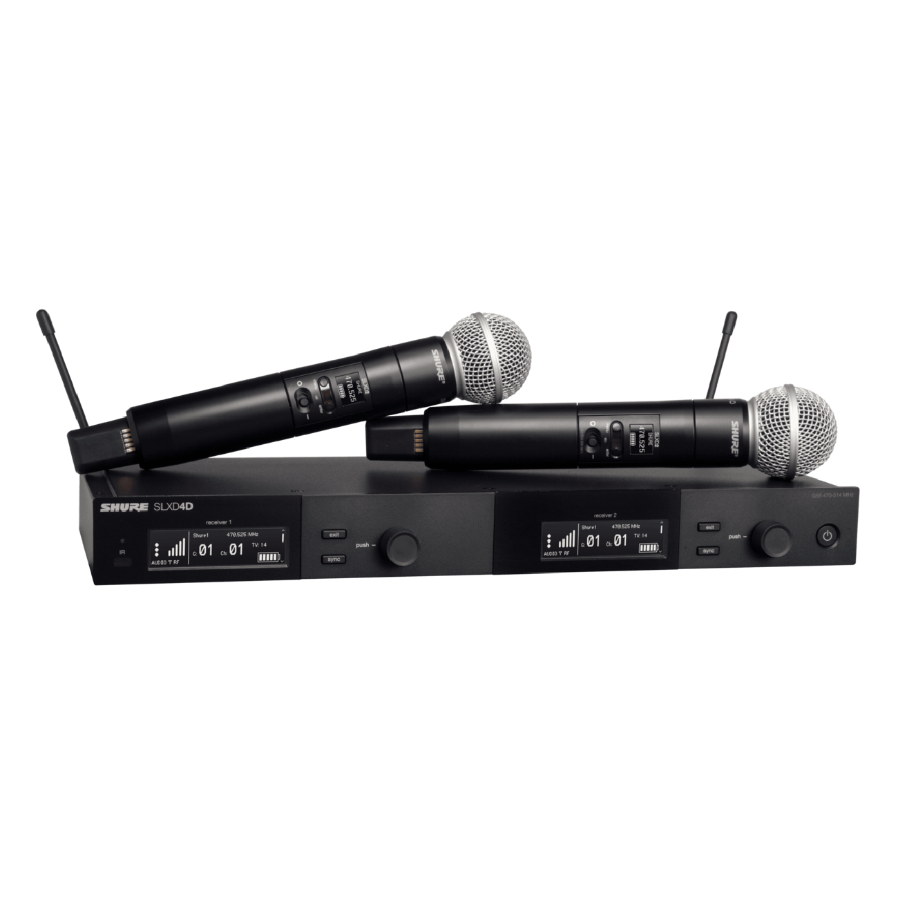 Shure SLXD24D/SM58 Dual Handheld Wireless Microphone System
