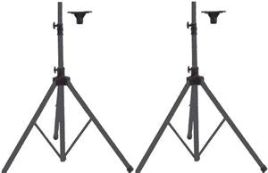 Nissindo AMS-001B Heavy Duty Tripod Speaker Stand w/ Top Holder (Pair)