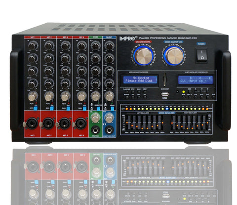 Audio 2000's AKJ-7046 Digital Key Echo Karaoke Mixer Amplifier