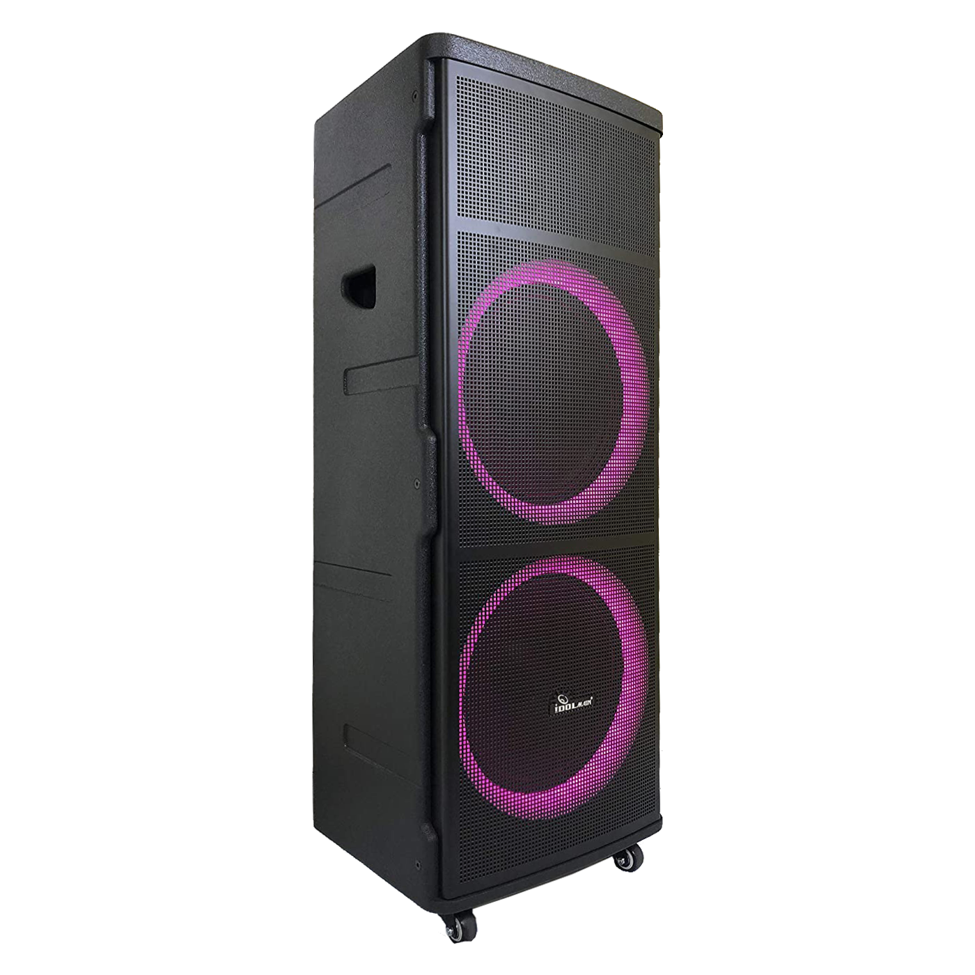 IDOlmain IPS-DJ06 Rechargeable Party Speaker With Bluetooth, Optical and, USB/SD Port. Includes Dual Rechargeable Wireless Microphone