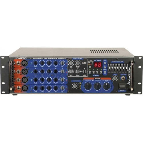 VocoPro HV-1200 High Power PA Vocal Mixing Amplifier