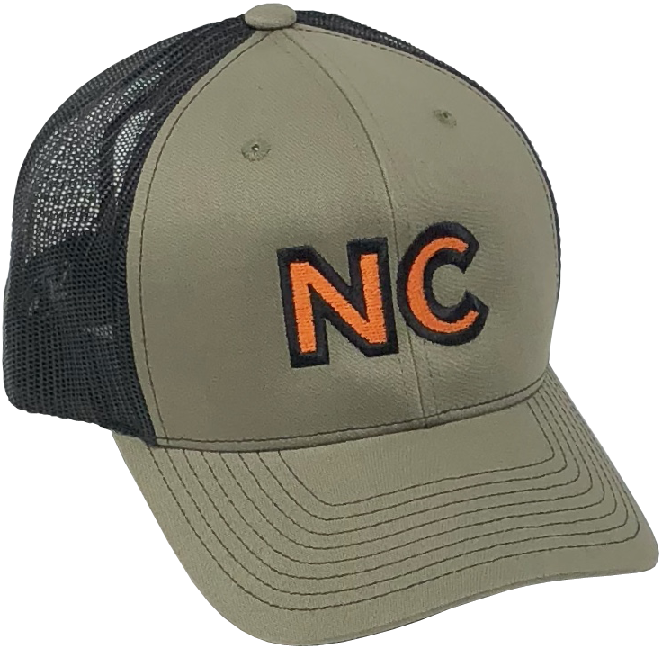 NC Embroidered Army Green/Black Hat