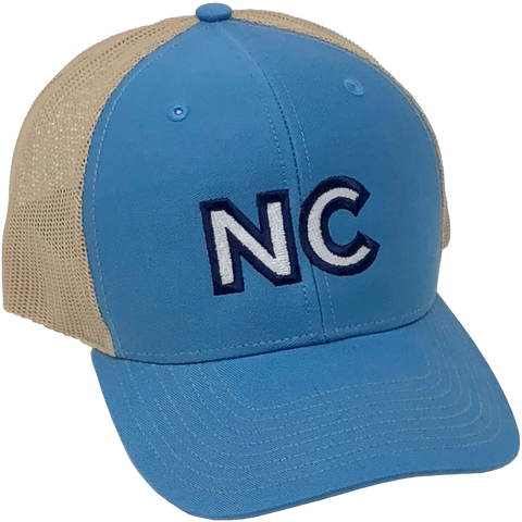 NC Embroidered Royal/Tan Hat
