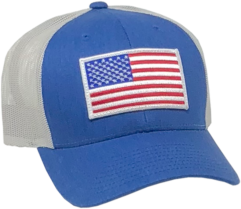 US Trucker Blue Hat