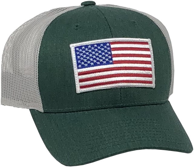 US Trucker Green Hat