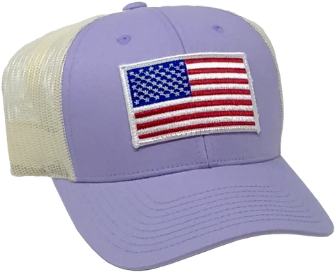 US Trucker Purple Hat