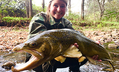 Lauren Dunn World Record Brown Trout Fish