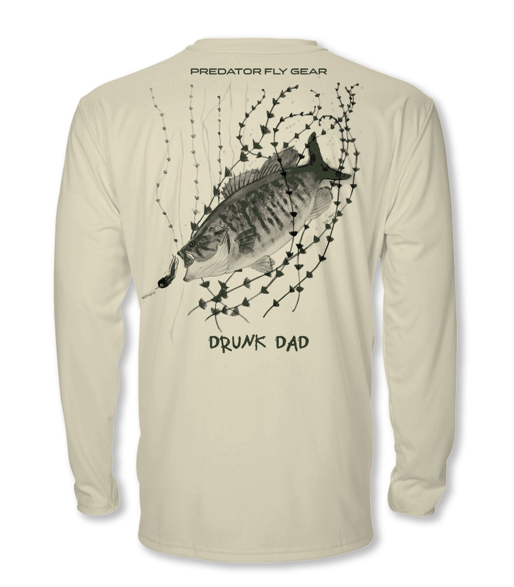 DRUNK DAD FLY, Smallmouth Cool Air Series UPF Shirt