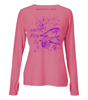 Womens PURSUING ESOX Performance Shirt, Northern Pike