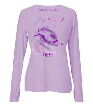 Womens GEET Performance Shirt, Giant Trevally