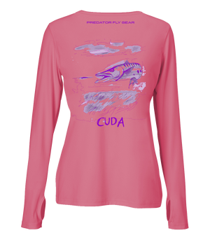 Womens CUDA Performance Shirt, Great Barracuda