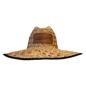 Muskie Leather Patch Straw Sun Hat