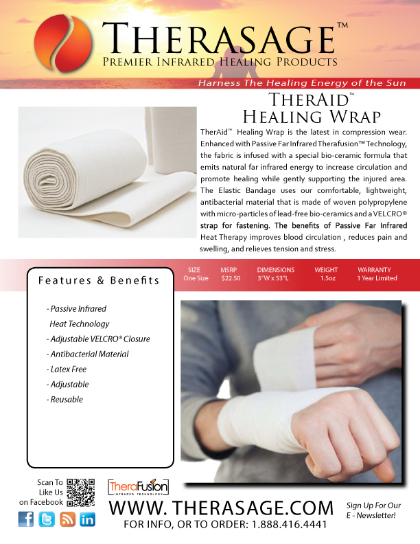 TherAid Infrared Bandages from Therasage