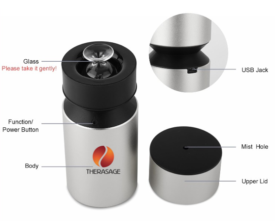 TherAroma - Portable Atomizer - Essential Oil Diffuser